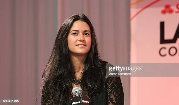 Kat Dahlia participates in 25th Annual Billboard Latin Music Conference QA With David Bisbal Lusi Fonsi at JW Marriott Marquis on April 23 2014 in...