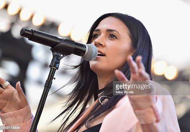 Kat Dahlia performs onstage at EpicFest 2016 hosted by LA Reid and Epic Records at Sony Studios on June 25 2016 in Los Angeles California