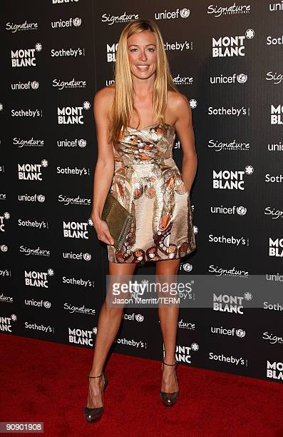 Kat Deeley arrives at the UNICEF benefit gala auction hosted by Montblanc on September 17 2009 in Beverly Hills California
