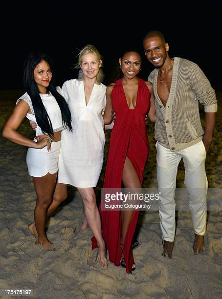 """Kat DeLuna, Kelly Rutherford, Tashiana Washington and Eric West attend Women's Health Hamptons """"Party Under the Stars"""" for RUN10 FEED10 at..."""