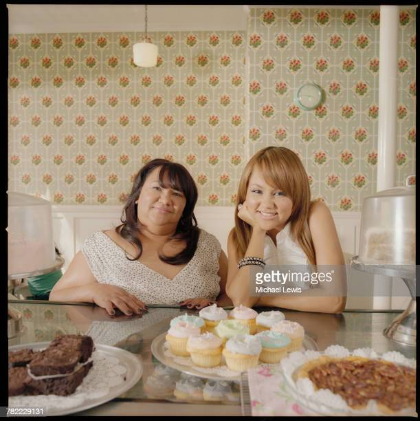 Kat DeLuna with her mother Ramona Severino in Billy's Baker in New York City NY