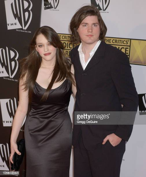 Kat Dennings and Ira Wood during 11th Annual Critics' Choice Awards Arrivals at Santa Monica Civic Auditorium in Santa Monica California United States