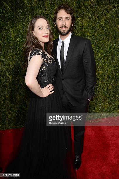 Kat Dennings and Josh Groban attend the 2015 Tony Awards at Radio City Music Hall on June 7 2015 in New York City