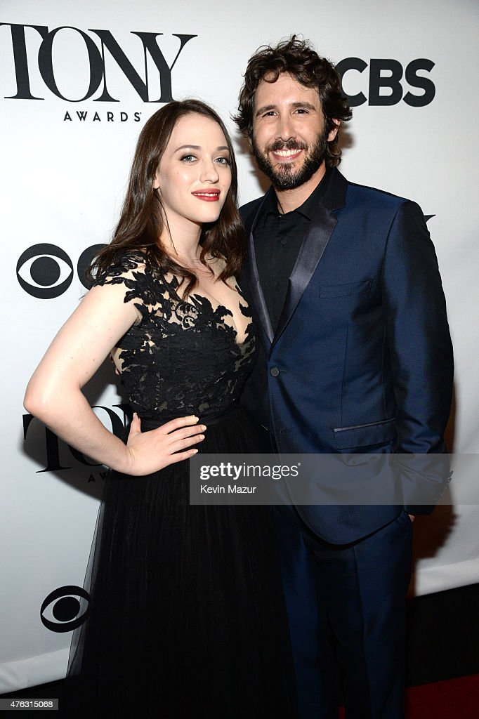 Kat Dennings and Josh Groban attend the 2015 Tony Awards at Radio City Music Hall on June 7, 2015 in New York City.