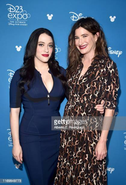 Kat Dennings and Kathryn Hahn of 'WandaVision' took part today in the Disney+ Showcase at Disney's D23 EXPO 2019 in Anaheim, Calif. 'WandaVision'...