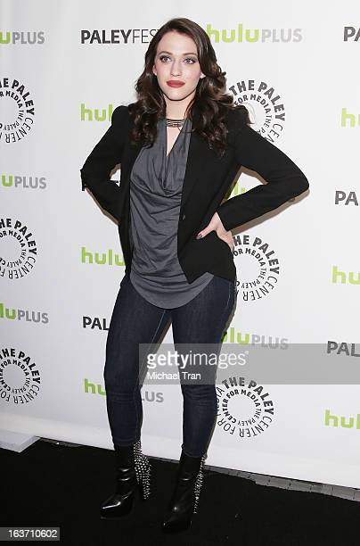 Kat Dennings arrives at the 30th Annual PaleyFest The William S Paley Television Festival '2 Broke Girls' held at Saban Theatre on March 14 2013 in...