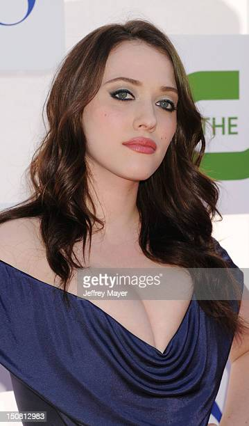 Kat Dennings arrives at the CBS Showtime and The CW 2012 TCA summer tour party at 9900 Wilshire Blvd on July 29 2012 in Beverly Hills California