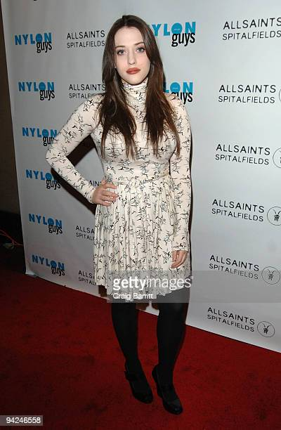 Kat Dennings at the NYLON Guys and All Saints Winter Issue Launch Event at The Roosevelt Hotel on December 9 2009 in Hollywood California