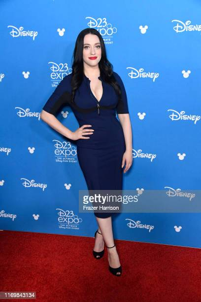 Kat Dennings attends D23 Disney event at Anaheim Convention Center on August 23 2019 in Anaheim California
