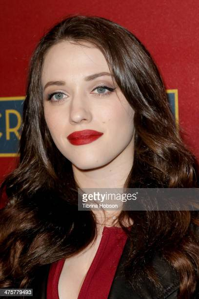 Kat Dennings attends the QVC 5th annual red carpet style event at The Four Seasons Hotel on February 28 2014 in Beverly Hills California