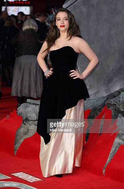 Kat Dennings attends the World Premiere of 'Thor The Dark World' at Odeon Leicester Square on October 22 2013 in London England
