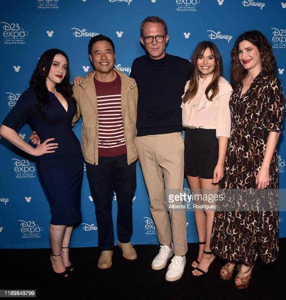 Kat Dennings, Randall Park, Paul Bettany, Elizabeth Olsen, and Kathryn Hahn of 'WandaVision' took part today in the Disney+ Showcase at Disney's D23...
