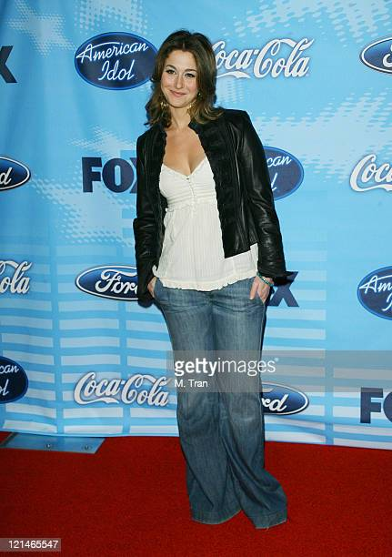 Kat Foster during American Idol Celebrates the Top 12 Contestants at Astra West Pacific Design Center in West Hollywood California United States