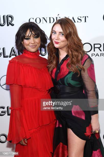 Kat Graham and Glamour EditorinChief Samantha Barry attend the 2018 Glamour Women Of The Year Awards Women Rise on November 12 2018 in New York City