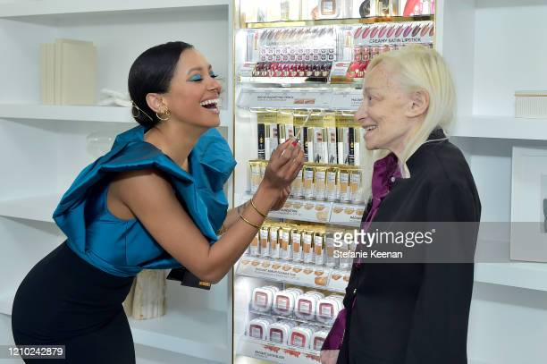 Kat Graham and Natasha Graham join L'Oréal Paris to celebrate the launch of Age Perfect Cosmetics on March 03 2020 in Beverly Hills California