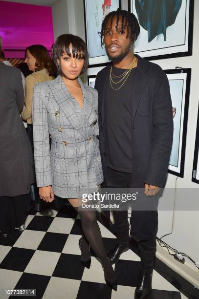 Kat Graham and Shameik Moore attend W Magazine Celebrates Its 'Best Performances' Portfolio and the Golden Globes with Audi and Giorgio Armani Beauty...