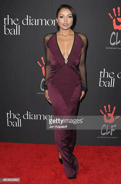 Kat Graham arrives at Rihanna's First Annual Diamond Ball at The Vineyard on December 11 2014 in Beverly Hills California