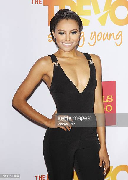 Kat Graham arrives at the 15th Annual Trevor Project Benefit held at Hollywood Palladium on December 8 2013 in Hollywood California