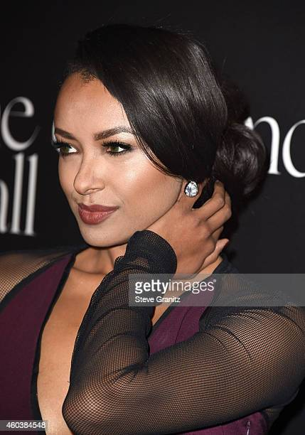 Kat Graham arrives at the Rihanna's First Annual Diamond Ball at The Vineyard on December 11 2014 in Beverly Hills California