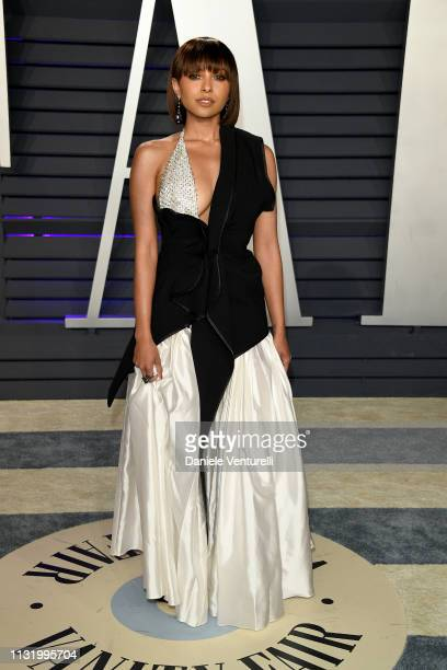 Kat Graham attends 2019 Vanity Fair Oscar Party Hosted By Radhika Jones Arrivals at Wallis Annenberg Center for the Performing Arts on February 24...