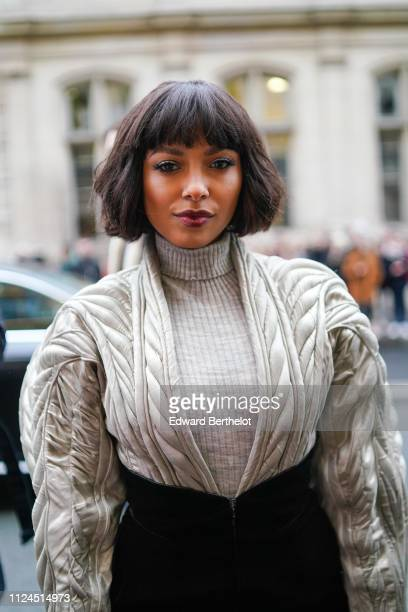 Kat Graham attends Atelier JeanPaul Gaultier during Paris Fashion Week Haute Couture Spring Summer 2019 on January 23 2019 in Paris France