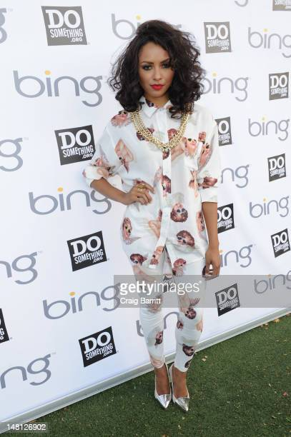 Kat Graham attends Bing and DoSomething.org's celebration of The Bing Summer of Doing at Jacob H. Schiff Playground on July 10, 2012 in New York City.