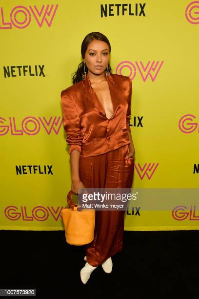 Kat Graham attends Netflix's Glow celebrates its 10 Emmy Nominations with RollerSkating event at World on Wheels on July 29 2018 in Los Angeles...