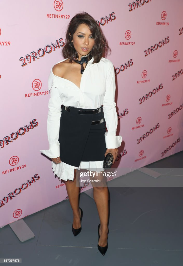 Kat Graham attends Refinery29 29Rooms Los Angeles: Turn It Into Art Opening Night Party at ROW DTLA on December 6, 2017 in Los Angeles, California.