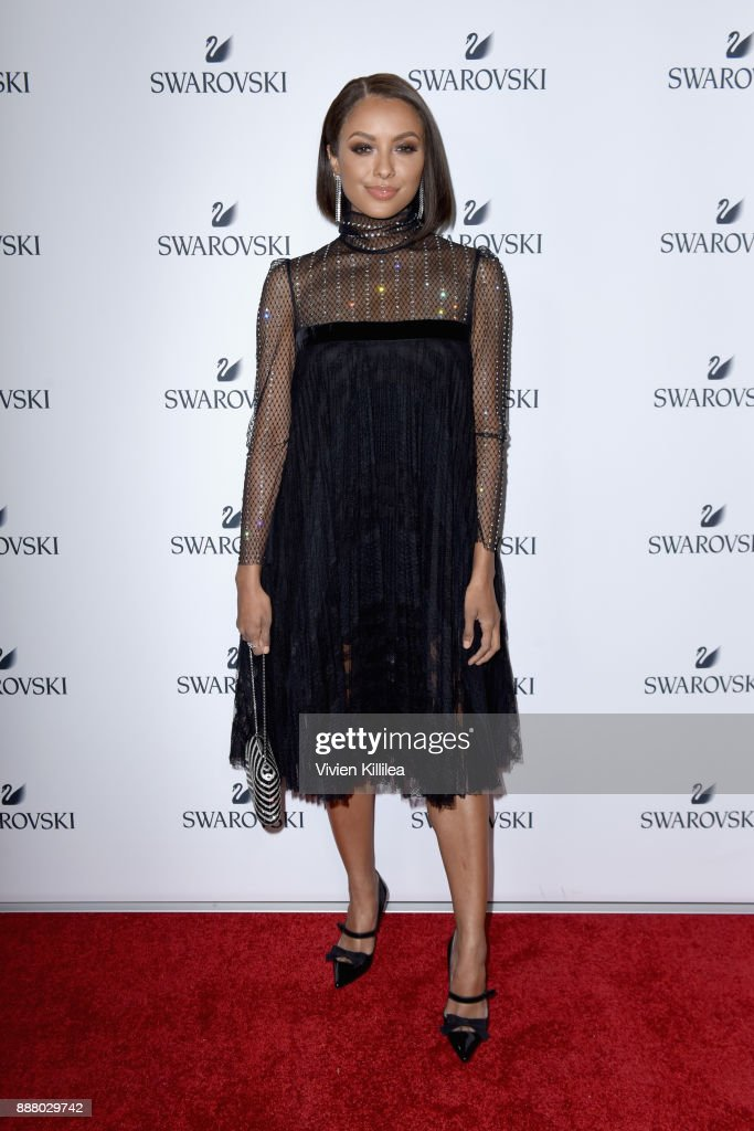 Kat Graham attends Swarovski's Holiday Collection Launch at The Grove on December 7, 2017 in Los Angeles, California.