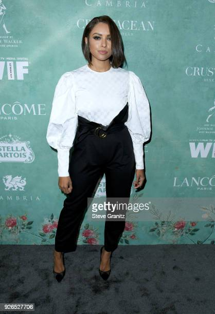 Kat Graham attends the 11th annual celebration of the 2018 female Oscar nominees presented by Women in Film at Crustacean on March 2 2018 in Beverly...