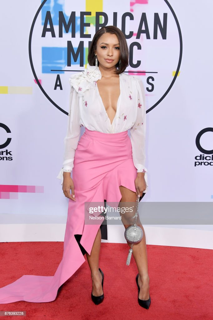 Kat Graham attends the 2017 American Music Awards at Microsoft Theater on November 19, 2017 in Los Angeles, California.