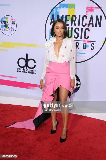 Kat Graham attends the 2017 American Music Awards at Microsoft Theater on November 19 2017 in Los Angeles California