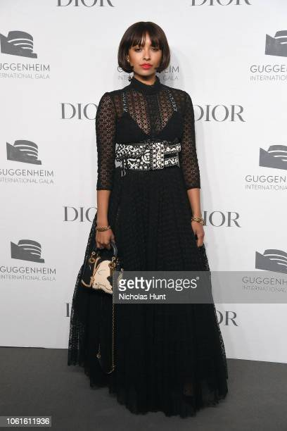 Kat Graham attends the 2018 Guggenheim International Gala PreParty made possible by Dior at Solomon R Guggenheim Museum on November 14 2018 in New...