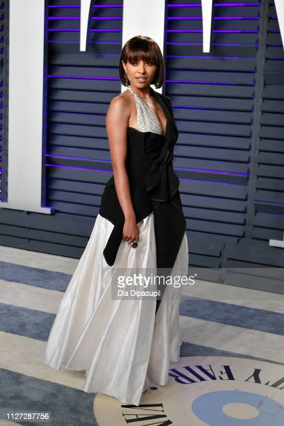 Kat Graham attends the 2019 Vanity Fair Oscar Party hosted by Radhika Jones at Wallis Annenberg Center for the Performing Arts on February 24 2019 in...