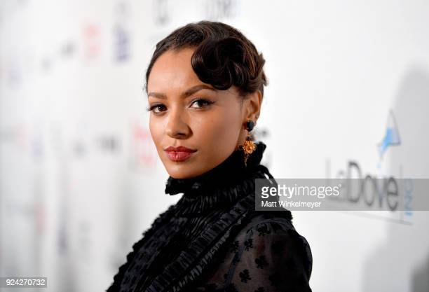 Kat Graham attends the 4th Hollywood Beauty Awards at Avalon Hollywood on February 25 2018 in Los Angeles California