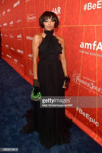 Kat Graham attends the amfAR Gala Los Angeles 2018 at Wallis Annenberg Center for the Performing Arts on October 18 2018 in Beverly Hills California