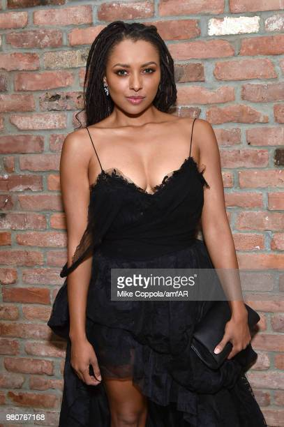 Kat Graham attends the amfAR GenCure Solstice 2018 on June 21 2018 in New York City