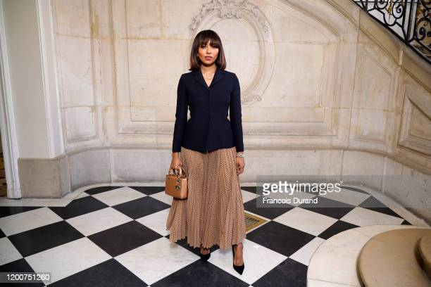 Kat Graham attends the Dior Haute Couture Spring/Summer 2020 show as part of Paris Fashion Week on January 20, 2020 in Paris, France.