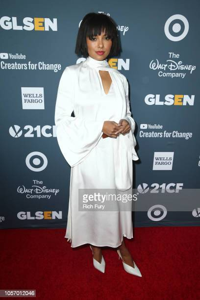 Kat Graham attends the GLSEN Respect Awards at the Beverly Wilshire Four Seasons Hotel on October 19 2018 in Beverly Hills California