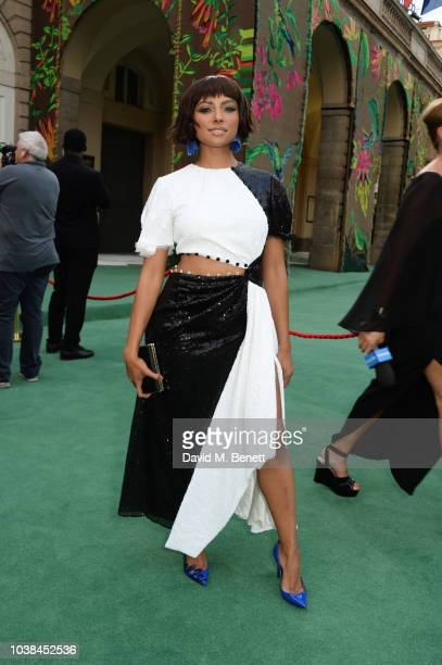 Kat Graham attends The Green Carpet Fashion Awards Italia 2018 at Teatro Alla Scala on September 23 2018 in Milan Italy