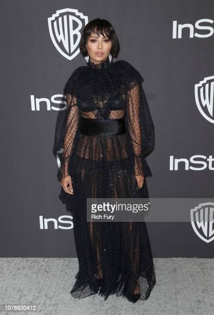 Kat Graham attends the InStyle And Warner Bros Golden Globes After Party 2019 at The Beverly Hilton Hotel on January 6 2019 in Beverly Hills...