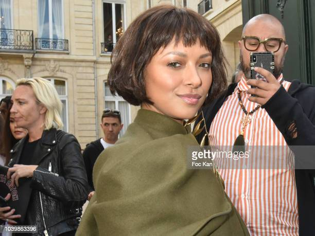 Kat Graham attends the Jacquemus show as part of the Paris Fashion Week Womenswear Spring/Summer 2019 on September 24, 2018 in Paris, France.