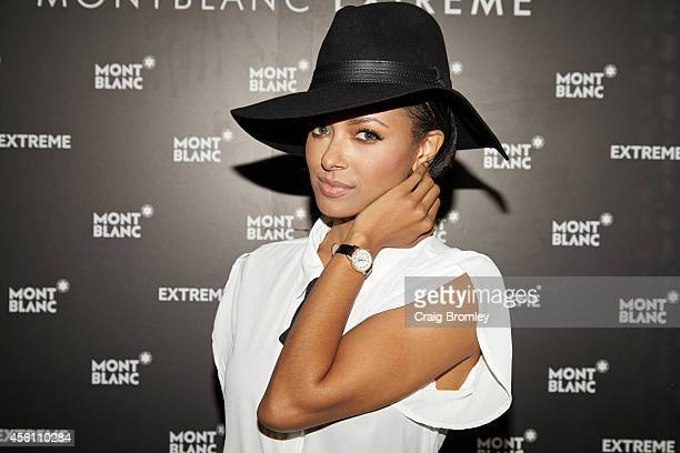 Kat Graham attends the Montblanc celebration for the grand reopening of the Atlanta Boutique with Kat Graham Dave Annable and Kristen Ledlow on...