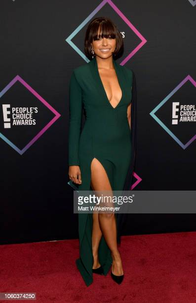 Kat Graham attends the People's Choice Awards 2018 at Barker Hangar on November 11 2018 in Santa Monica California