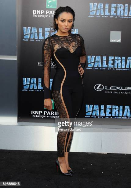 Kat Graham attends the premiere of EuropaCorp and STX Entertainment's 'Valerian and The City of a Thousand Planets' at TCL Chinese Theatre on July 17...