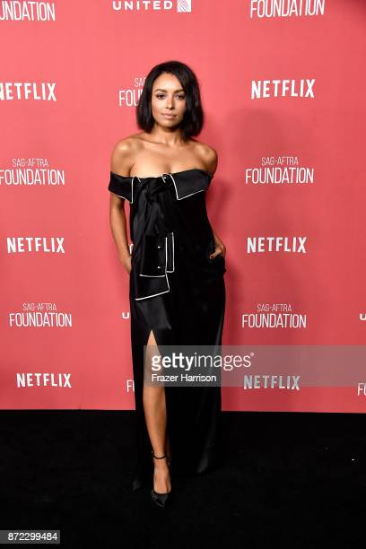 Kat Graham attends the SAGAFTRA Foundation Patron of the Artists Awards 2017 at the Wallis Annenberg Center for the Performing Arts on November 9...