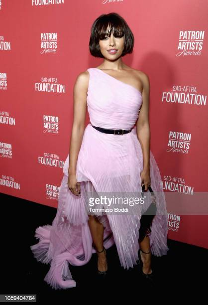 Kat Graham attends the SAGAFTRA Foundation's 3rd Annual Patron of the Artists Awards at the Wallis Annenberg Center for the Performing Arts on...