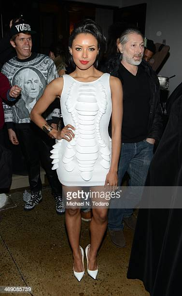 Kat Graham attends the The Blonds Show during MADE Fashion Week Fall 2014 at Milk Studios on February 12, 2014 in New York City.