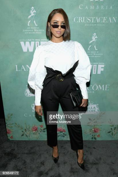 Kat Graham attends Women In Film PreOscar Cocktail Party presented by Max Mara and Lancome with additional support from Crustacean Beverly Hills...