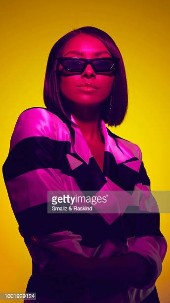 Kat Graham from the show 'Rise of the Teenage Mutant Ninja Turtles' poses for a portrait in the Getty Images Portrait Studio powered by Pizza Hut at...